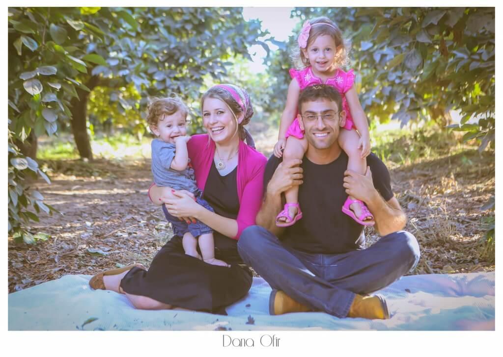 צילומים משפחתיים בטבע בחודש אוגוסט - דנה אופיר