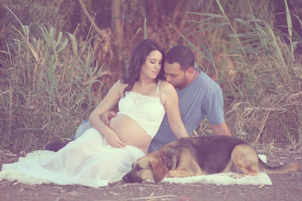 צילום היריון בטבע - צילום זוגי