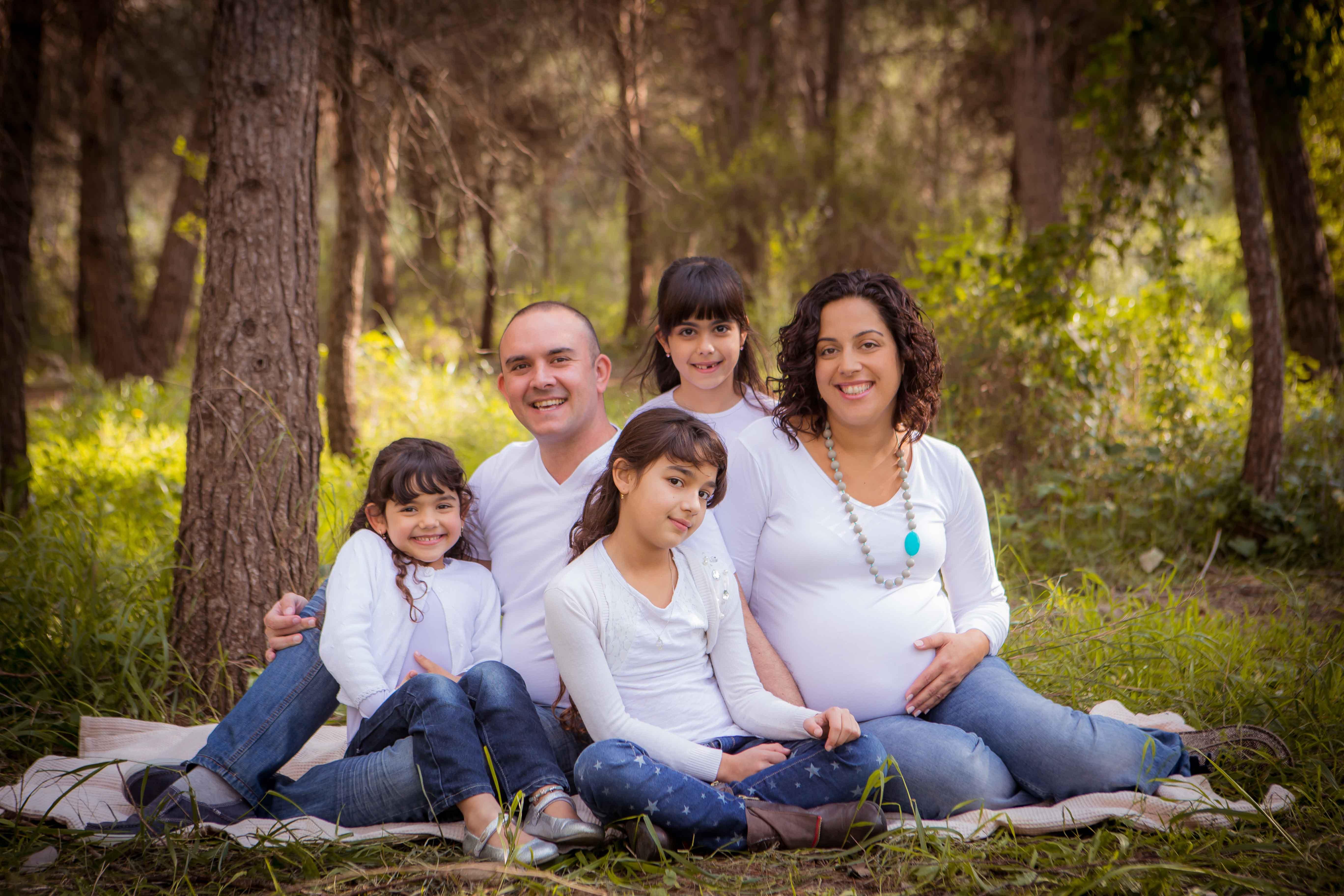 צילומי הריון ומשפחה ביחד, צילומי טבע - דנה אופיר