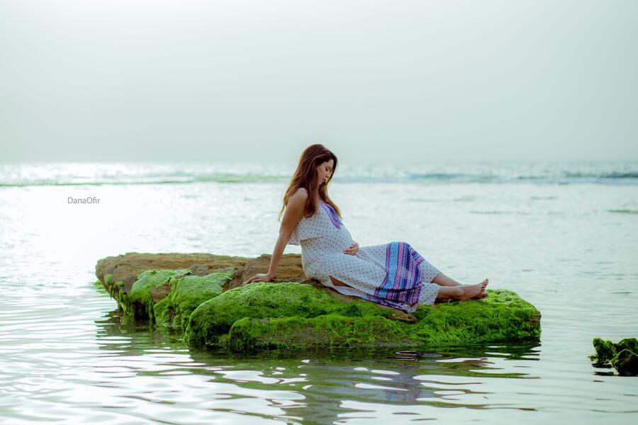 צילום הריון בים (צילום: דנה אופיר)